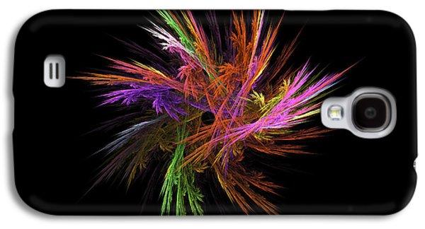Recently Sold -  - Abstract Digital Digital Art Galaxy S4 Cases - Fractal Flame - Digital Flower Image - Modern Art Galaxy S4 Case by Keith Webber Jr