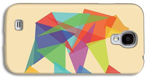 Geometric Shape Galaxy S4 Cases - Fractal geometric Bear Galaxy S4 Case by Budi Satria Kwan