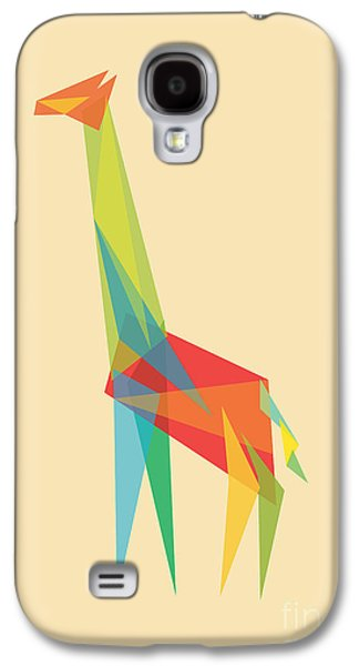 Giraffe Digital Galaxy S4 Cases - Fractal Geometric Giraffe Galaxy S4 Case by Budi Kwan