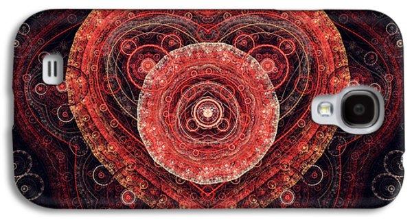Suburban Digital Art Galaxy S4 Cases - Fractal Heart Galaxy S4 Case by Martin Capek