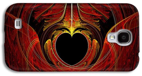 Suburban Digital Art Galaxy S4 Cases - Fractal - Heart - Victorian love Galaxy S4 Case by Mike Savad