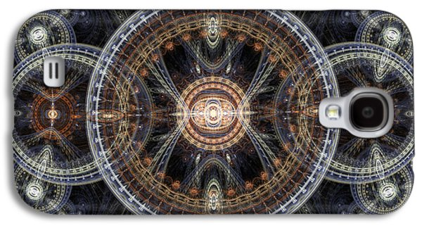 Machinery Galaxy S4 Cases - Fractal inception Galaxy S4 Case by Martin Capek