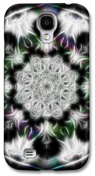 Manley Galaxy S4 Cases - Fractal Kaleidoscope Two - Filter Effects Galaxy S4 Case by Gina Lee Manley