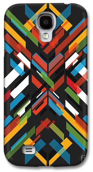 Shapes Galaxy S4 Cases - Fractal Pattern Galaxy S4 Case by Budi Satria Kwan