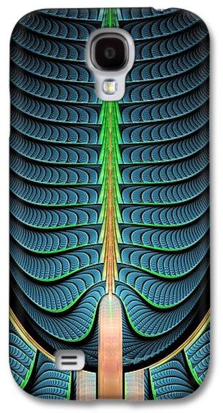 Pines Galaxy S4 Cases - Fractal Pine Tree Galaxy S4 Case by Anastasiya Malakhova