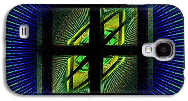 Gradient Galaxy S4 Cases - Fractal Squares And Vortex Pattern Galaxy S4 Case by Keith Webber Jr