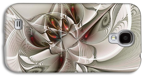 Fractal Art Galaxy S4 Cases - Fractal With Interior View Galaxy S4 Case by Karin Kuhlmann