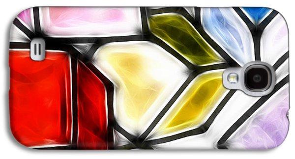 """geometric Art"" Galaxy S4 Cases - Fractalius cubes Galaxy S4 Case by Sharon Lisa Clarke"
