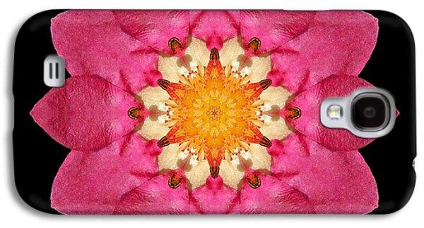 David J Bookbinder Galaxy S4 Cases - Fragaria Flower Mandala Galaxy S4 Case by David J Bookbinder