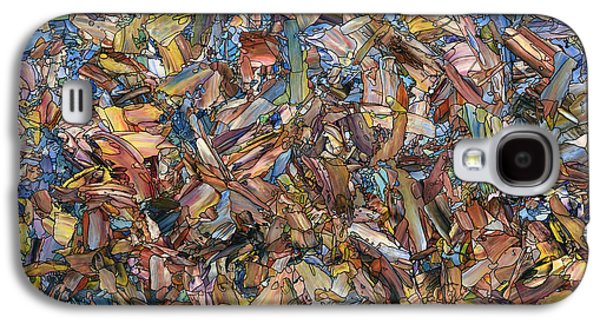 Lively Galaxy S4 Cases - Fragmented Fall - Square Galaxy S4 Case by James W Johnson