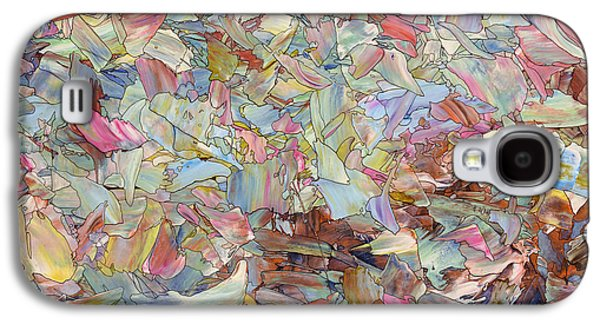 Contemporary Abstract Drawings Galaxy S4 Cases - Fragmented Hill Galaxy S4 Case by James W Johnson
