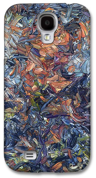 Blue Abstracts Drawings Galaxy S4 Cases - Fragmented Man Galaxy S4 Case by James W Johnson