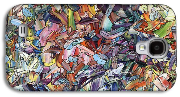Abstracted Galaxy S4 Cases - Fragmenting Heart Galaxy S4 Case by James W Johnson
