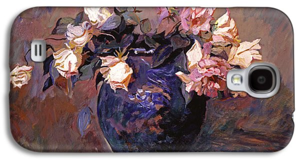 Pottery Paintings Galaxy S4 Cases - Fragrant Rose Petals Galaxy S4 Case by David Lloyd Glover