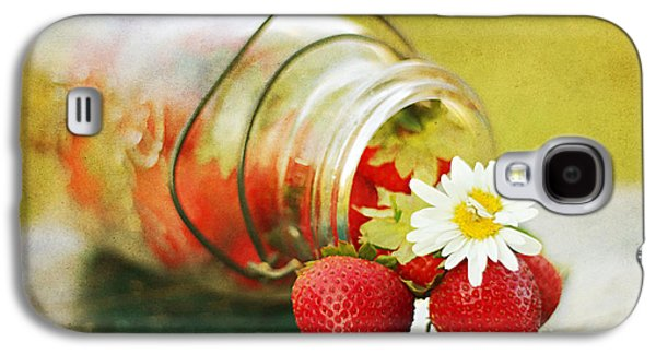 Mason Jars Galaxy S4 Cases - Fraises Galaxy S4 Case by Darren Fisher