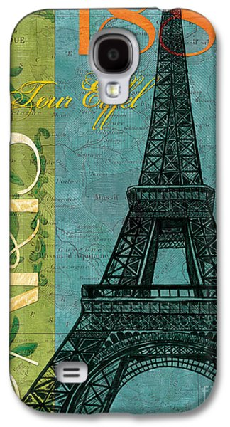 Maps Paintings Galaxy S4 Cases - Francaise 1 Galaxy S4 Case by Debbie DeWitt