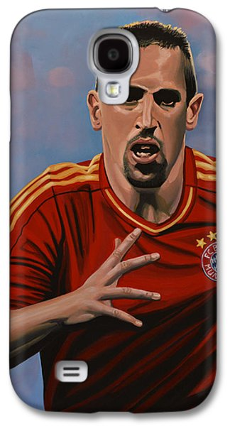 Jewels Galaxy S4 Cases - Franck Ribery Galaxy S4 Case by Paul Meijering
