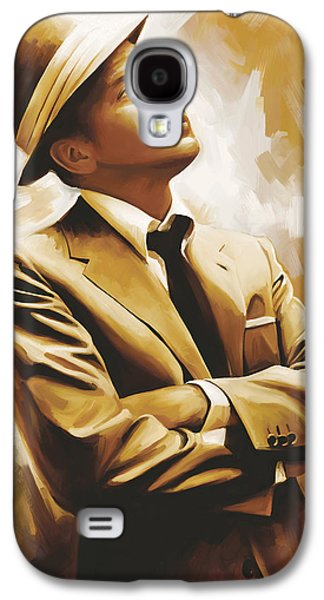 Celebrities Galaxy S4 Cases - Frank Sinatra Artwork 1 Galaxy S4 Case by Sheraz A
