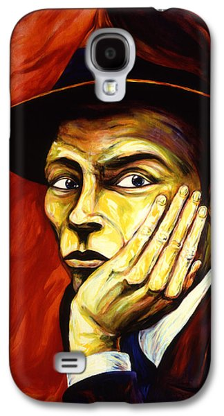 Frank Sinatra Paintings Galaxy S4 Cases - Frank Sinatra Galaxy S4 Case by Cardell Walker
