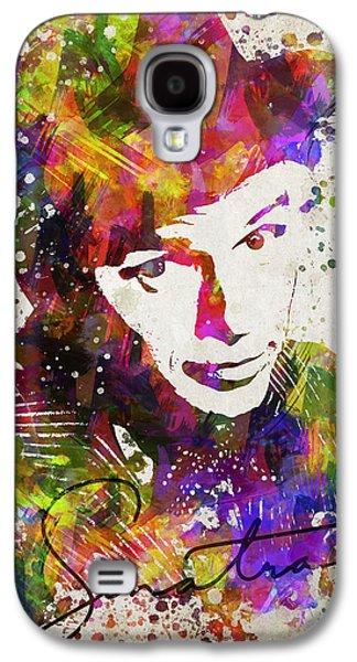 Splutter Digital Galaxy S4 Cases - Frank Sinatra in Color Galaxy S4 Case by Aged Pixel