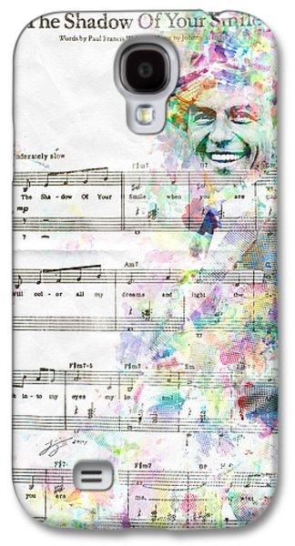 Smiling Mixed Media Galaxy S4 Cases - Frank Sinatra Galaxy S4 Case by Jonas Luis