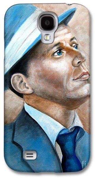 Frank Sinatra Paintings Galaxy S4 Cases - Frank Sinatra Ol Blue Eyes Galaxy S4 Case by Patrice Torrillo