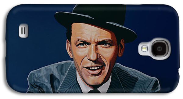 Stage Paintings Galaxy S4 Cases - Frank Sinatra Galaxy S4 Case by Paul Meijering