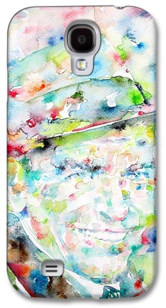 Frank Sinatra Paintings Galaxy S4 Cases - FRANK SINATRA - watercolor portrait.1 Galaxy S4 Case by Fabrizio Cassetta