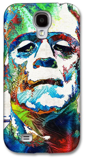 Creepy Paintings Galaxy S4 Cases - Frankenstein Art - Colorful Monster - By Sharon Cummings Galaxy S4 Case by Sharon Cummings