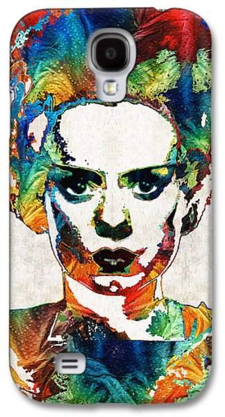 Creepy Paintings Galaxy S4 Cases - Frankenstein Bride Art - Colorful Monster Bride - By Sharon Cummings Galaxy S4 Case by Sharon Cummings