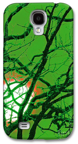 Mystical Landscape Mixed Media Galaxy S4 Cases - Frankenstein Moon Galaxy S4 Case by First Star Art