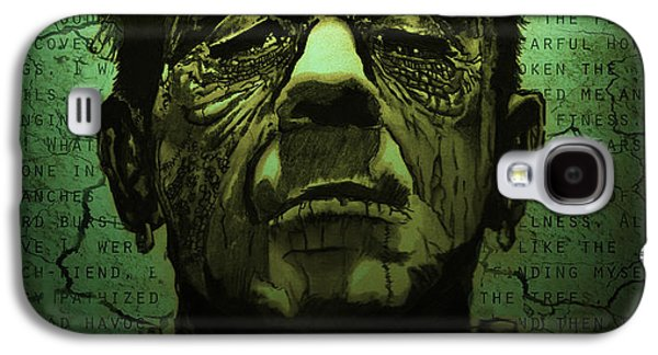 Earth Tones Drawings Galaxy S4 Cases - Frankensteins Monster dark variant Galaxy S4 Case by Ryan May