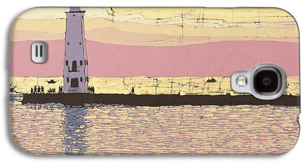 Transportation Tapestries - Textiles Galaxy S4 Cases - Frankfort Pier Galaxy S4 Case by Terri Haugen