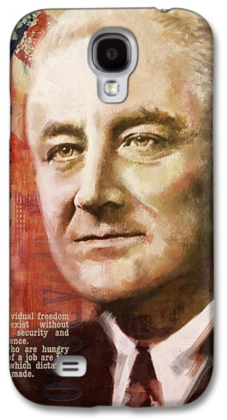 Franklin Galaxy S4 Cases - Franklin D. Roosevelt Galaxy S4 Case by Corporate Art Task Force