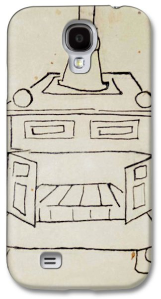 Franklin Drawings Galaxy S4 Cases - Franklin Galaxy S4 Case by Erika Chamberlin