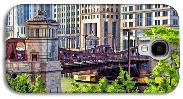Chicago River Galaxy S4 Cases - Franklin Street Bridge Galaxy S4 Case by Christopher Arndt