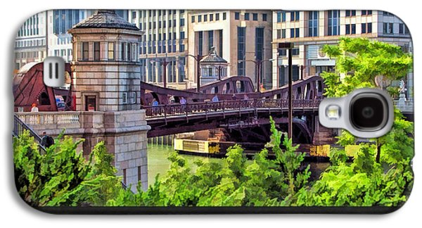 Chicago River Galaxy S4 Cases - Franklin Street Bridge Poster Galaxy S4 Case by Christopher Arndt