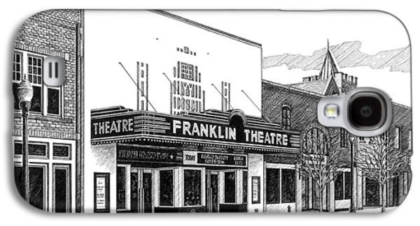 Historic Site Drawings Galaxy S4 Cases - Franklin Theatre in Franklin TN Galaxy S4 Case by Janet King
