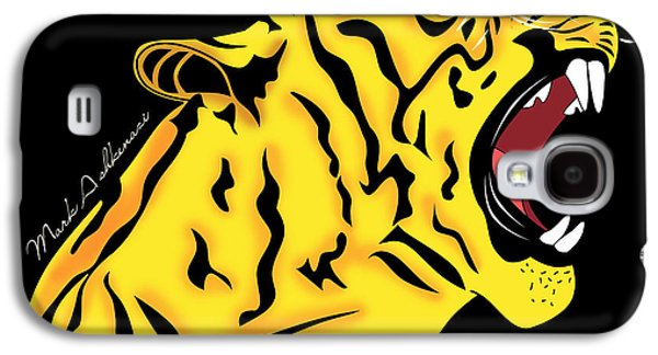 Animation Galaxy S4 Cases - Freak Tiger  Galaxy S4 Case by Mark Ashkenazi
