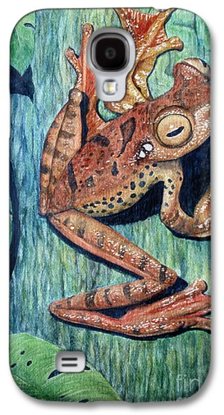 Flying Frog Galaxy S4 Cases - Freckles Tree Frog Galaxy S4 Case by Joey Nash