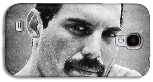 Person Pastels Galaxy S4 Cases - Freddie Mercury Galaxy S4 Case by Antony McAulay