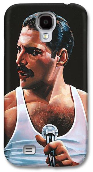 Heavens Paintings Galaxy S4 Cases - Freddie Mercury Galaxy S4 Case by Paul Meijering