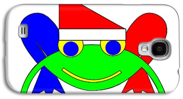 Asbjorn Lonvig Digital Galaxy S4 Cases - Frederic the Frog whishes you a Merry Christmas Galaxy S4 Case by Asbjorn Lonvig