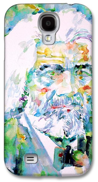 Frederick Douglass - Watercolor Portrait Galaxy S4 Case by Fabrizio Cassetta