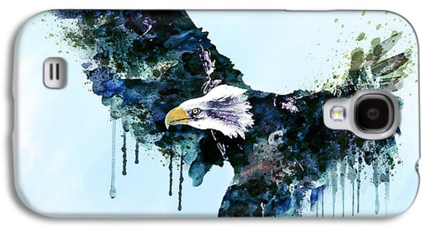 Eagle Mixed Media Galaxy S4 Cases - Free and Deadly watercolor Galaxy S4 Case by Marian Voicu