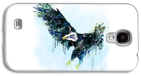 Free Mixed Media Galaxy S4 Cases - Free and Deadly watercolor Galaxy S4 Case by Marian Voicu