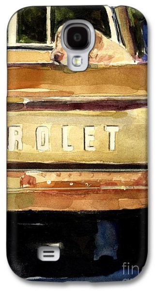 Dogs Paintings Galaxy S4 Cases - Free Ride Galaxy S4 Case by Molly Poole