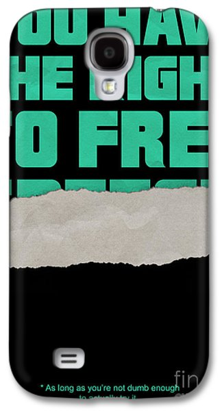 Censorship Galaxy S4 Cases - Free Speech Galaxy S4 Case by Graeme Voigt