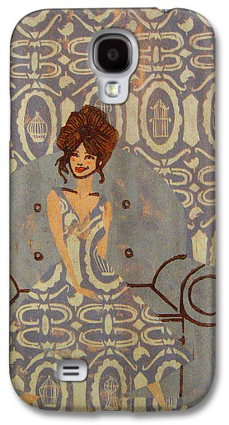 Girl Reliefs Galaxy S4 Cases - Free Thinker - Purple Galaxy S4 Case by Jeslyn Cantrell