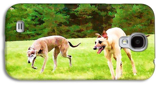 Puppies Digital Art Galaxy S4 Cases - Free to roam Galaxy S4 Case by John Lynch